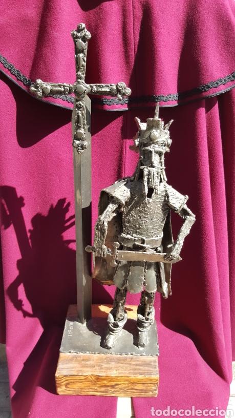 ESCULTURA DE DON PELAYO DE ESCULTOR ASTURIANO (Arte - Escultura - Hierro)