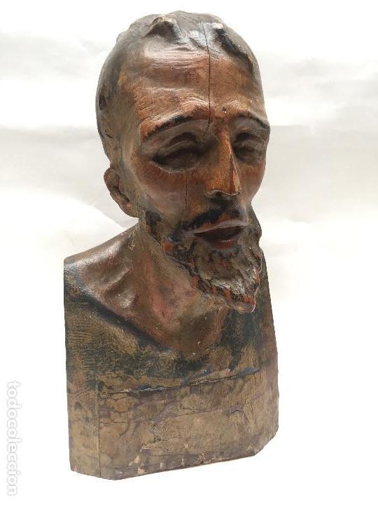BUSTO DE SANTO VESTIDERO , SIGLO XVIII, (Arte - Escultura - Madera)