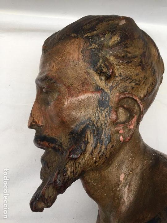 Arte: BUSTO DE SANTO VESTIDERO , SIGLO XVIII, - Foto 2 - 113707719
