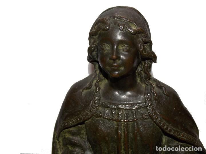 Arte: figura escultura de Bronce SEÑORA DEL PAÑAL por Codina Bronces certificada - Foto 2 - 113949255