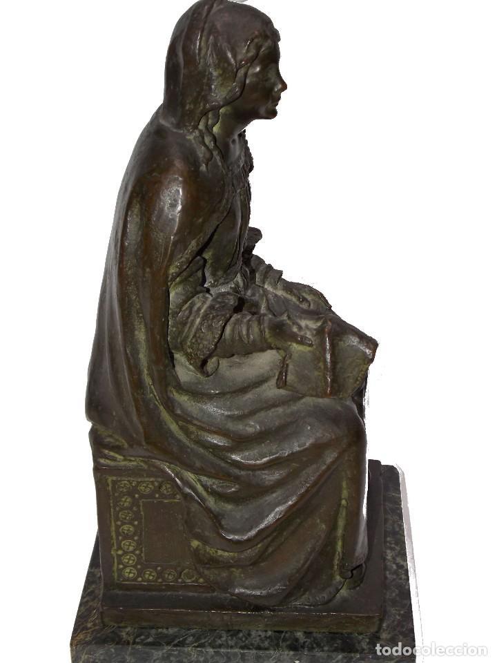 Arte: figura escultura de Bronce SEÑORA DEL PAÑAL por Codina Bronces certificada - Foto 4 - 113949255