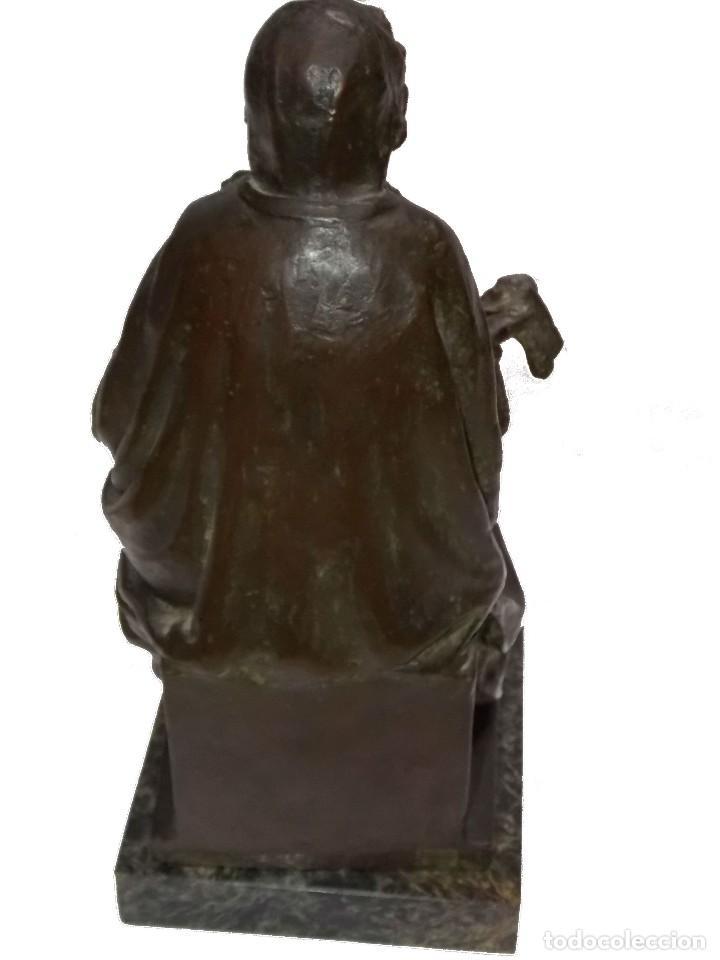 Arte: figura escultura de Bronce SEÑORA DEL PAÑAL por Codina Bronces certificada - Foto 5 - 113949255
