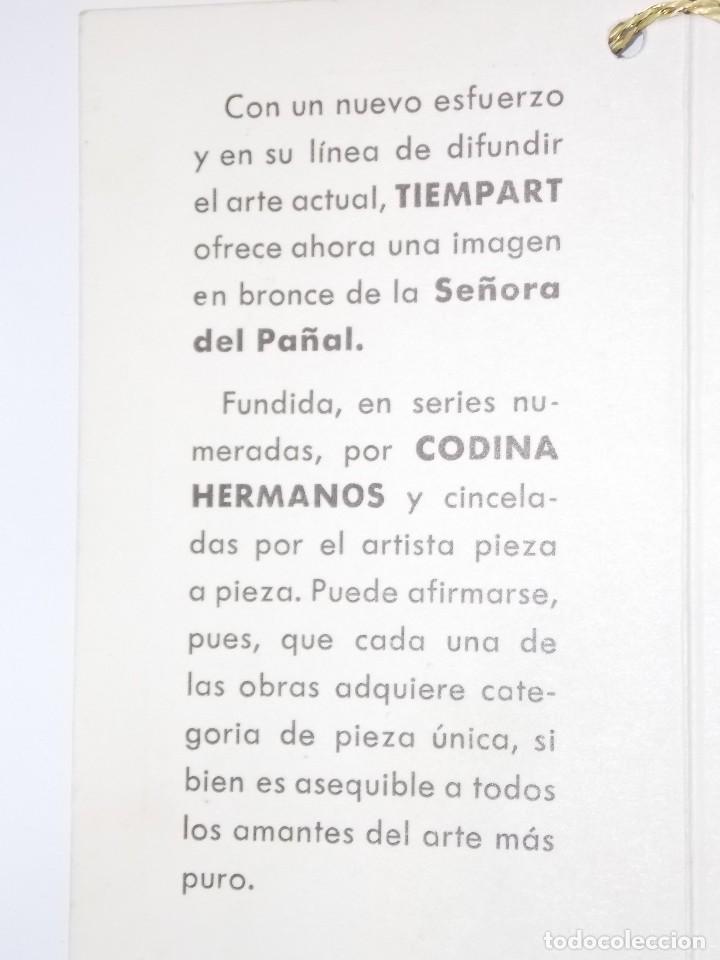 Arte: figura escultura de Bronce SEÑORA DEL PAÑAL por Codina Bronces certificada - Foto 10 - 113949255