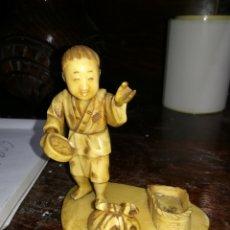 Arte - Figura japonesa de marfil XIX - 113955970