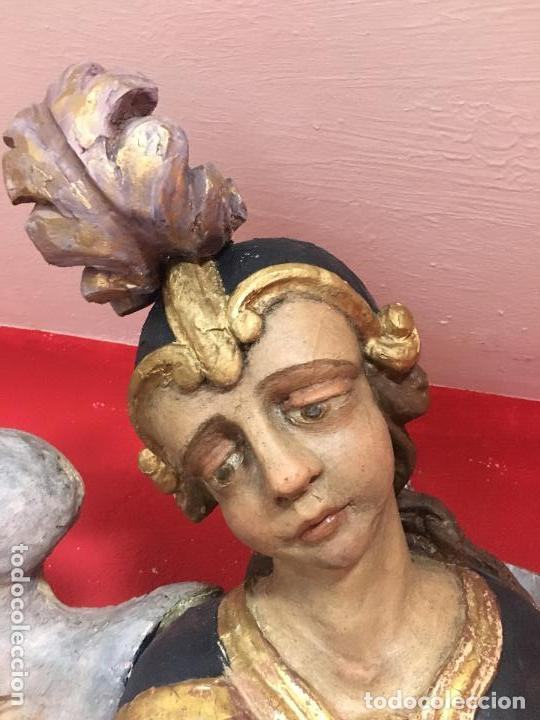 Arte: FANTASTICO SAN MIGUEL ARCANGEL TALLA MADERA SIGLO XVIII/XIX - MEDIDA 110X80 CM - RELIGIOSO - CAPILLA - Foto 2 - 115785728