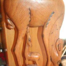 Arte: FIGURA MADERA AFRICANA CIERVOS. Lote 114446199