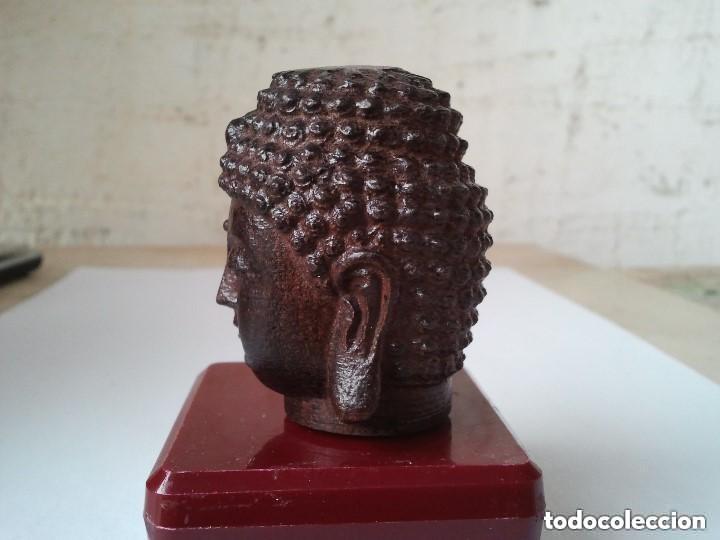 Arte: Preciosa figura de madera de la cabeza de buda. Procede de China y es para la buena suerte y riqueza - Foto 8 - 147756233