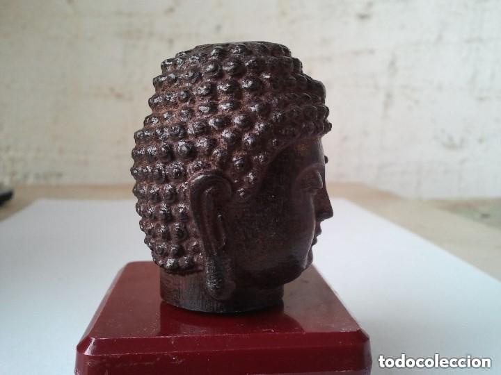 Arte: Preciosa figura de madera de la cabeza de buda. Procede de China y es para la buena suerte y riqueza - Foto 10 - 147756233