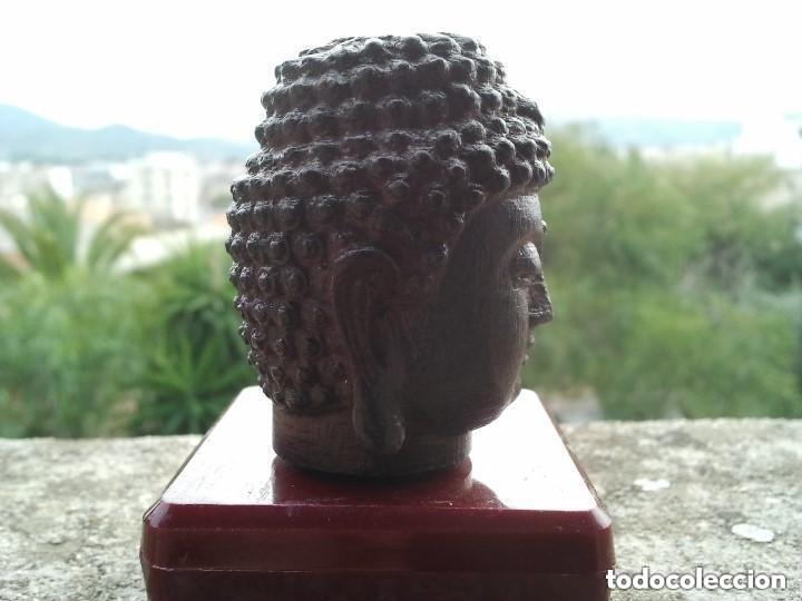 Arte: Preciosa figura de madera de la cabeza de buda. Procede de China y es para la buena suerte y riqueza - Foto 18 - 147756233
