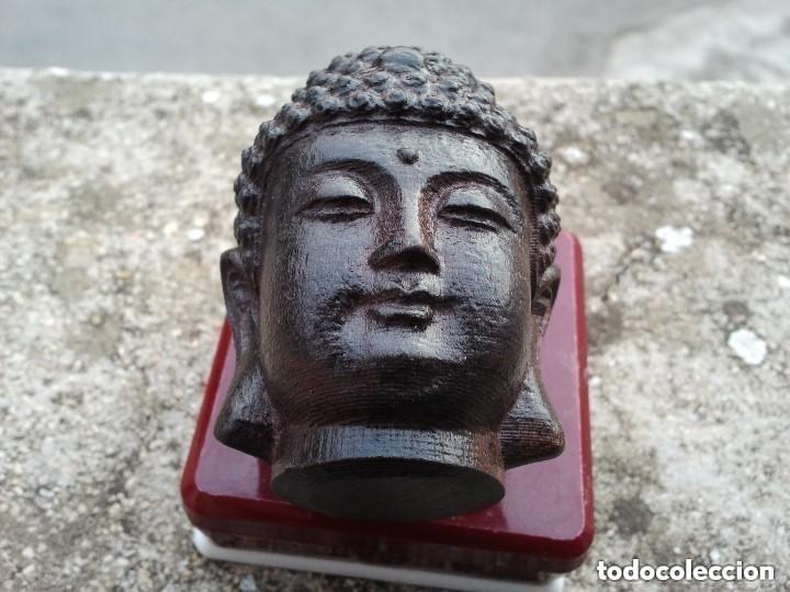 Arte: Preciosa figura de madera de la cabeza de buda. Procede de China y es para la buena suerte y riqueza - Foto 20 - 147756233