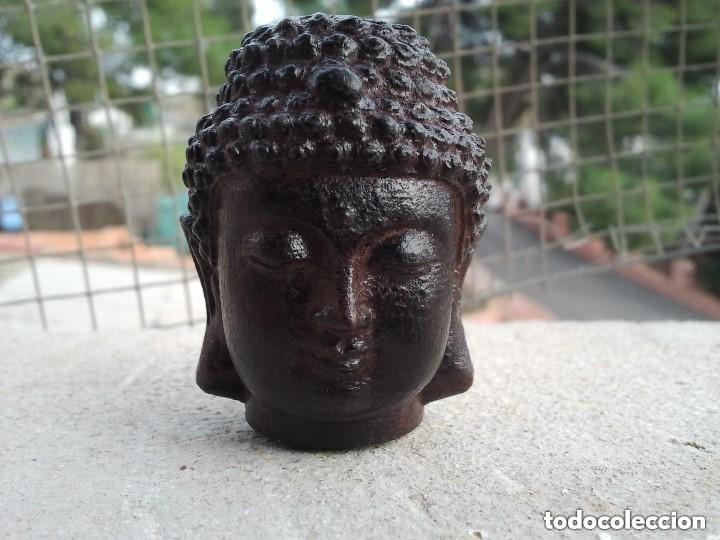 Arte: Preciosa figura de madera de la cabeza de buda. Procede de China y es para la buena suerte y riqueza - Foto 22 - 147756233