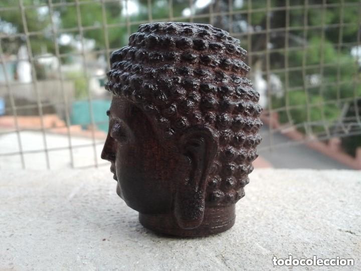 Arte: Preciosa figura de madera de la cabeza de buda. Procede de China y es para la buena suerte y riqueza - Foto 23 - 147756233