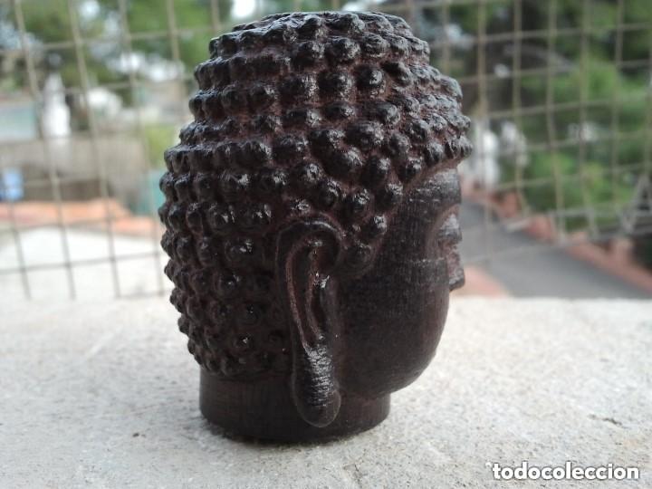 Arte: Preciosa figura de madera de la cabeza de buda. Procede de China y es para la buena suerte y riqueza - Foto 25 - 147756233
