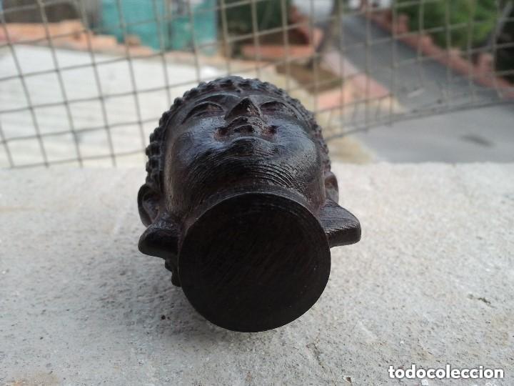 Arte: Preciosa figura de madera de la cabeza de buda. Procede de China y es para la buena suerte y riqueza - Foto 26 - 147756233