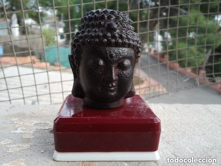 Arte: Preciosa figura de madera de la cabeza de buda. Procede de China y es para la buena suerte y riqueza - Foto 28 - 147756233