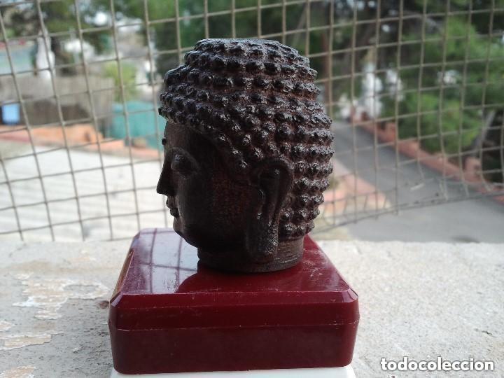 Arte: Preciosa figura de madera de la cabeza de buda. Procede de China y es para la buena suerte y riqueza - Foto 29 - 147756233