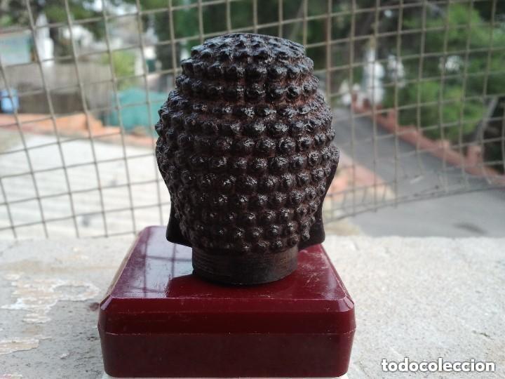 Arte: Preciosa figura de madera de la cabeza de buda. Procede de China y es para la buena suerte y riqueza - Foto 30 - 147756233