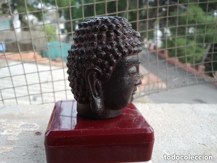 Arte: Preciosa figura de madera de la cabeza de buda. Procede de China y es para la buena suerte y riqueza - Foto 31 - 147756233