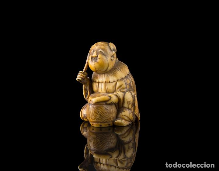 NETSUKE MARFIL JAPONES SIGLO XIX (Arte - Escultura - Marfil)
