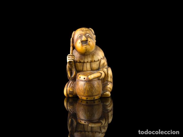 Arte: Netsuke marfil Japones siglo XIX - Foto 2 - 115046575
