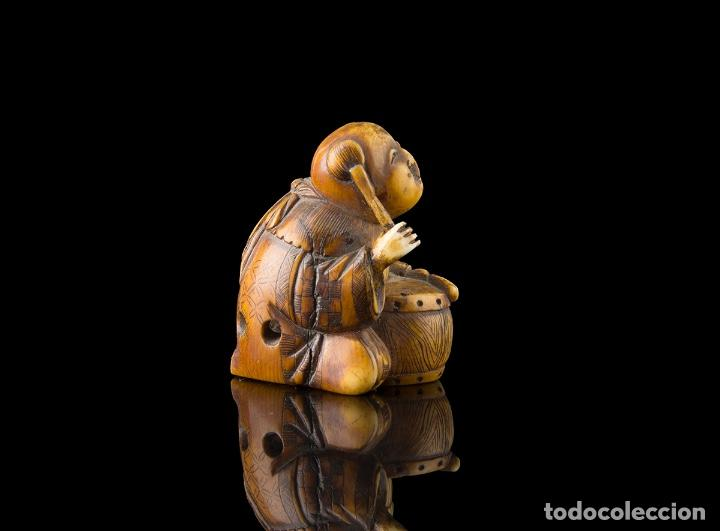 Arte: Netsuke marfil Japones siglo XIX - Foto 3 - 115046575
