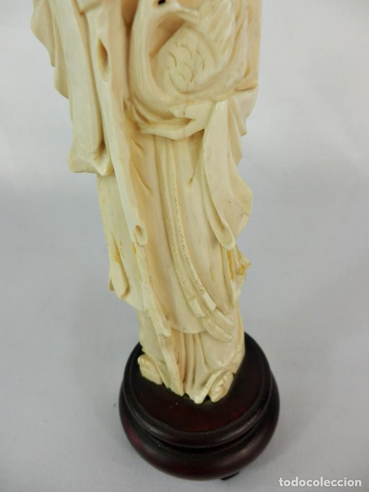 Arte: Talla de marfil s XIX SABIO 15 cm de altura SIN la peana 130 gramos aproximados de marfil - Foto 4 - 115093143