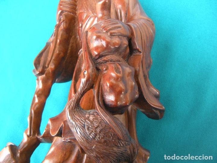 Arte: BUDA MONJE EN MADERA TALLADA - Foto 10 - 115261419