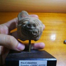 Arte: CABEZA FELINO PRECOLOMBINA EN TERRACOTA 200-500 D.C. Lote 115297595
