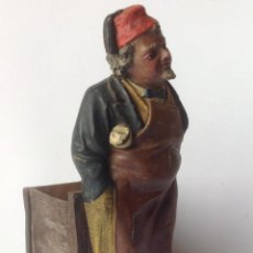 Arte: ANTIGUA FIGURA TABAQUERA , ARABE EN TERRACOTA , FIRMADA HERMANOS BUXÓ .OLOT. Lote 115514351