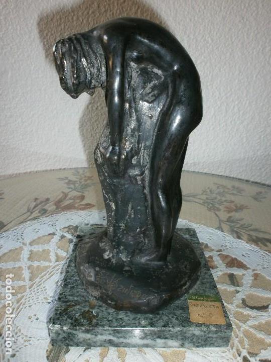 Arte: SINFONIETA - 7 ESCULTURAS EN BRONCE Y MÁRMOL - ESCULTOR SANTIAGO DE SANTIAGO. - Foto 11 - 116076307