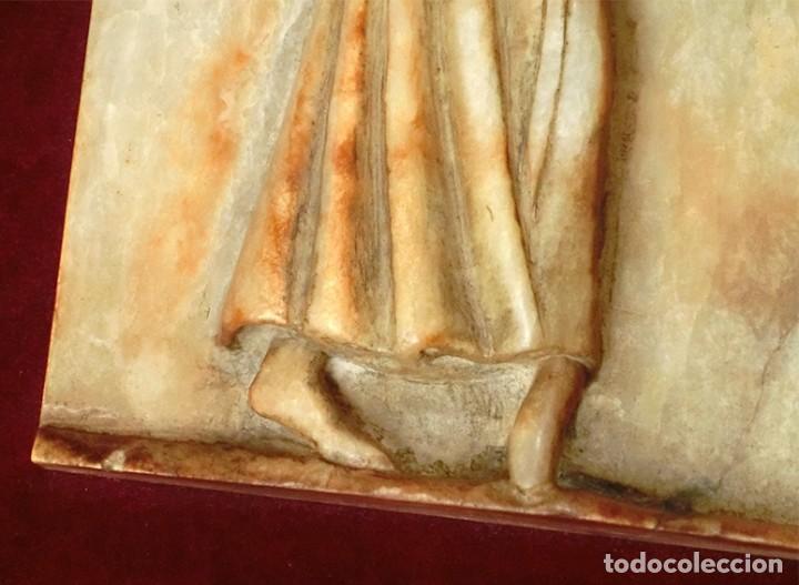 Arte: PRECIOSA PIEZA DE ALABASTRO - ORJUDO - SALAMANCA - ESCENA MEDIEVAL - RELIEVE ENMARCADO - ESCULTURA - Foto 9 - 116215311