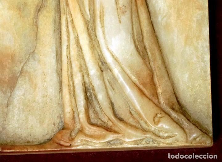 Arte: PRECIOSA PIEZA DE ALABASTRO - ORJUDO - SALAMANCA - ESCENA MEDIEVAL - RELIEVE ENMARCADO - ESCULTURA - Foto 13 - 116215311