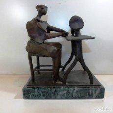 Arte: MAGNIFICA ESCULTURA EN FORJA DEL ARTISTA RAFAEL PI BELDA. Lote 116632255