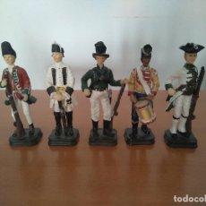 Arte: LOTE 5 FIGURAS DE RESINA - SOLDADOS SIGLO XVIII - AÑOS 90. Lote 116758403
