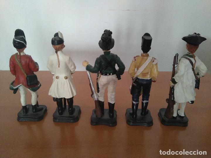 Arte: Lote 5 figuras de resina - Soldados siglo XVIII - Años 90 - Foto 2 - 116758403