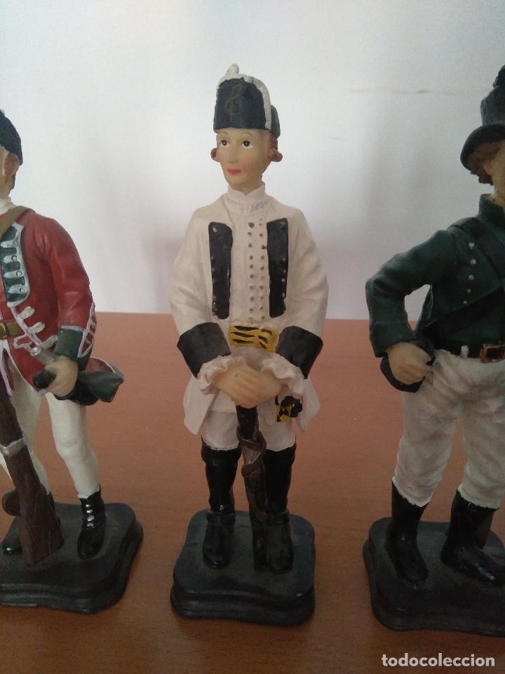 Arte: Lote 5 figuras de resina - Soldados siglo XVIII - Años 90 - Foto 4 - 116758403