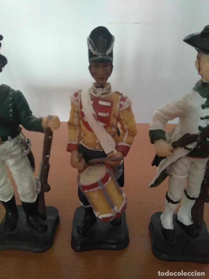 Arte: Lote 5 figuras de resina - Soldados siglo XVIII - Años 90 - Foto 6 - 116758403
