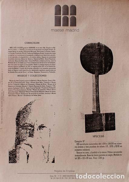 Arte: JOSÉ LUIS SÁNCHEZ. Speculo. Escultura de bronce. - Foto 2 - 89725124