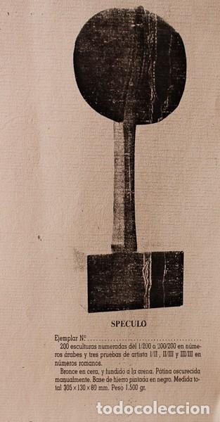 Arte: JOSÉ LUIS SÁNCHEZ. Speculo. Escultura de bronce. - Foto 3 - 89725124