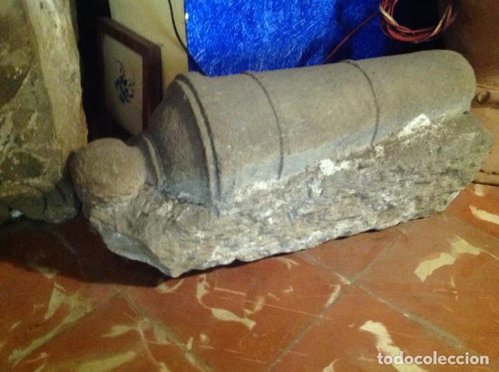 ANTIGUO CAÑÓN DE PIEDRA DECORACIÓN ESCULTURA MEDIDAS 62X31X24CM (Arte - Escultura - Piedra)