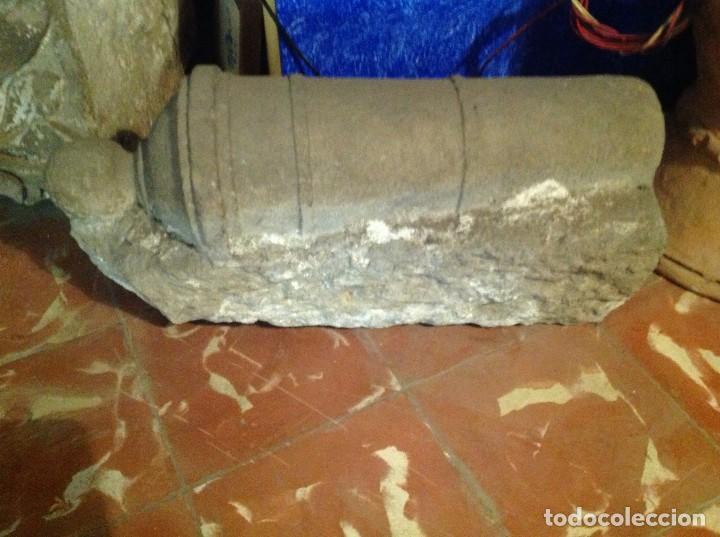 Arte: Antiguo Cañón De Piedra Decoración Escultura Medidas 62X31X24CM - Foto 2 - 117059323