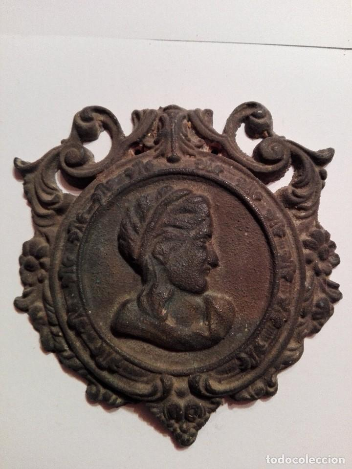 ANTIGUA Y PRECIOSA PLACA DE BRONCE (Arte - Escultura - Bronce)
