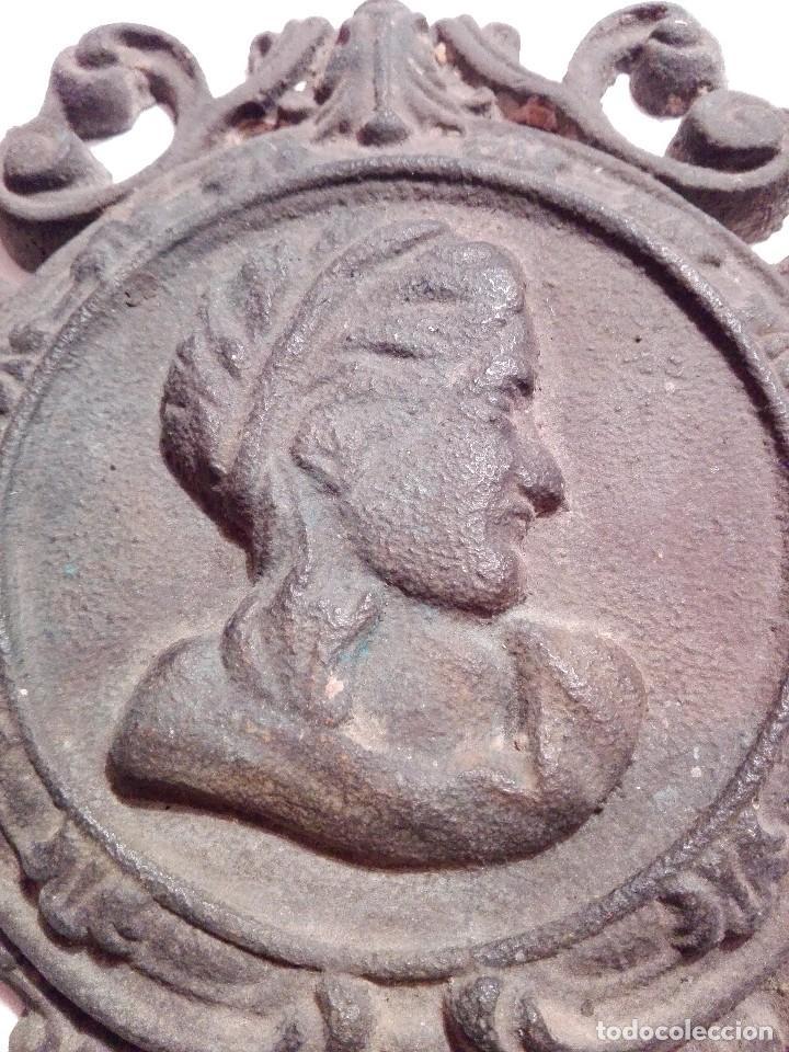 Arte: Antigua y preciosa placa de bronce - Foto 2 - 117250327