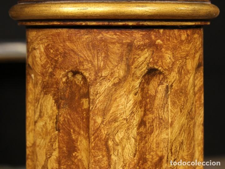 Arte: Par de columnas italianas lacadas y doradas - Foto 2 - 117269315