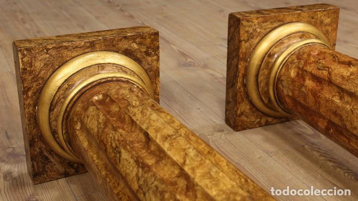 Arte: Par de columnas italianas lacadas y doradas - Foto 5 - 117269315