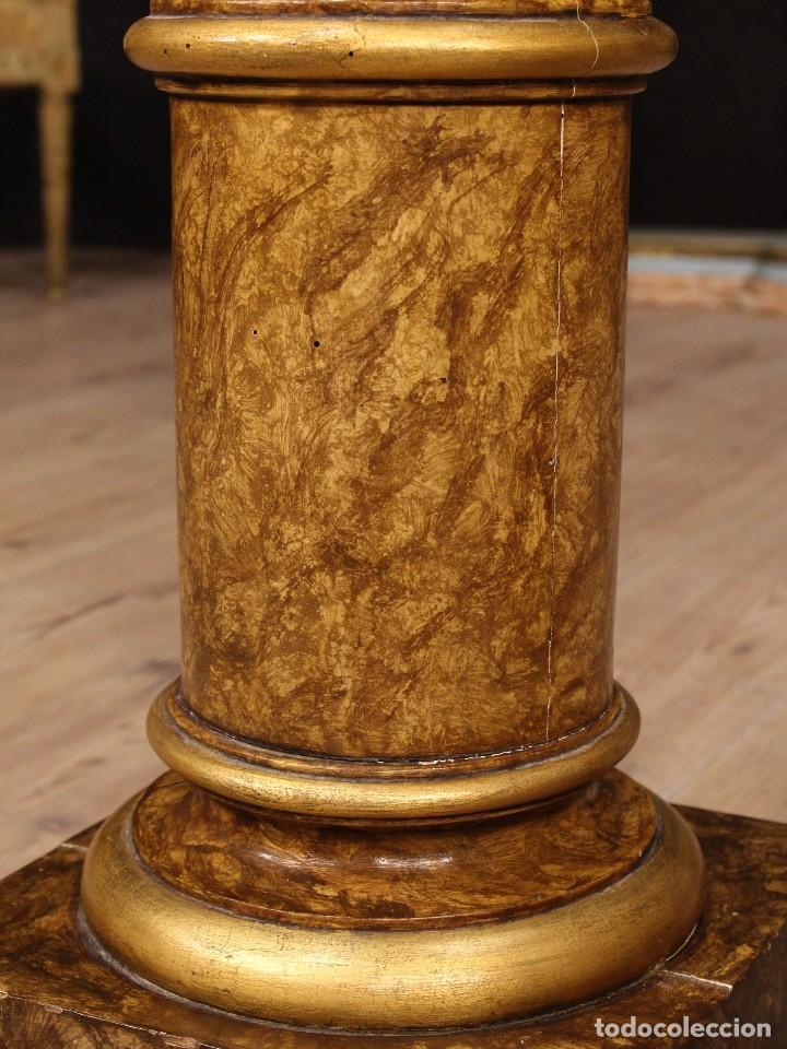 Arte: Par de columnas italianas lacadas y doradas - Foto 8 - 117269315