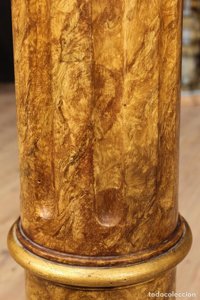 Arte: Par de columnas italianas lacadas y doradas - Foto 10 - 117269315