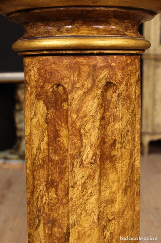Arte: Par de columnas italianas lacadas y doradas - Foto 11 - 117269315