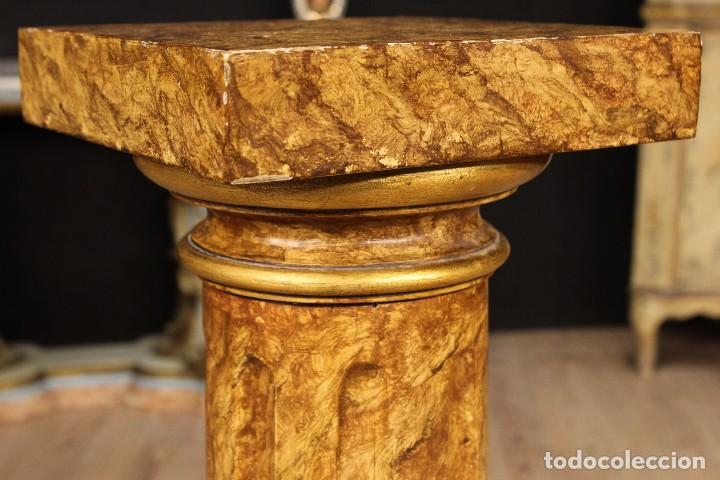Arte: Par de columnas italianas lacadas y doradas - Foto 12 - 117269315