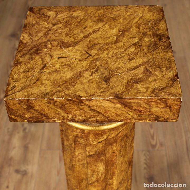Arte: Par de columnas italianas lacadas y doradas - Foto 14 - 117269315